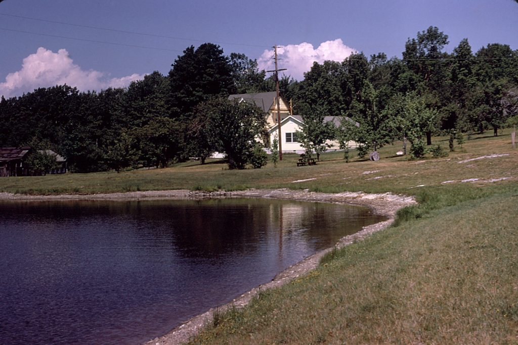 The pond, circa 1970