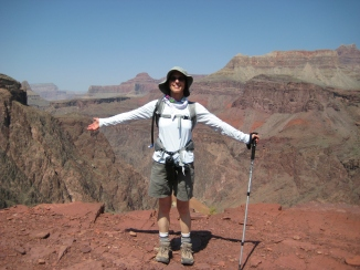 Up to the edge at the Grand Canyon. Thrilling--but don't step back.