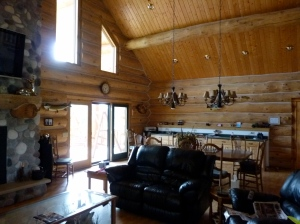 Interior of the Deer Haven Lodge -- just as I pictured it! (photo credit: Kourtney Heintz)