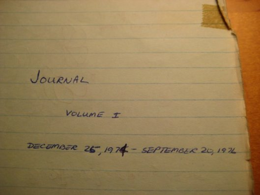 Yes, this was the very first volume of my journal.
