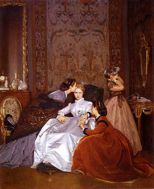 """The Reluctant Bride"" - Auguste Toulmouche [Public domain], via Wikimedia Commons"