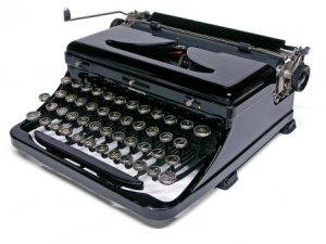 I inherited this typewriter from my father. Well, not this exact one. This image courtesy of Machines of Living Grace.