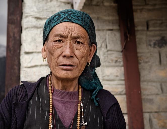 Wrinkled Nepali Woman