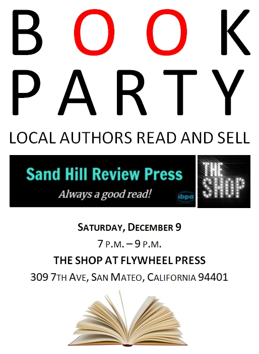 Come to the book party in San Mateo!