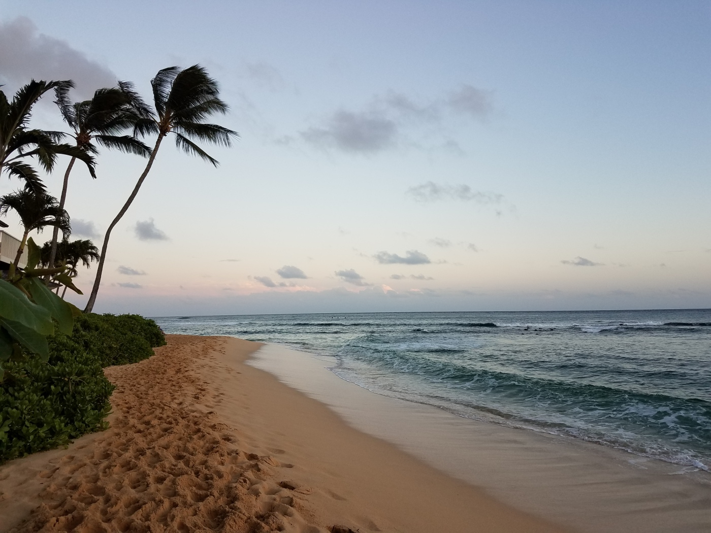 Poipu Beach at sunset