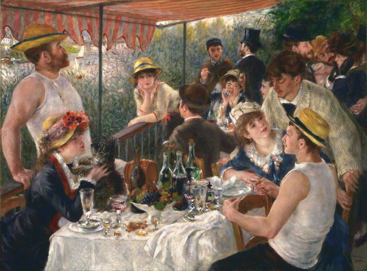 Auguste Renoir: Luncheon of the Boating Party [PUBLIC DOMAIN]